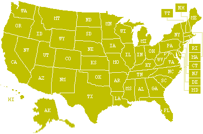U.S. Weather Radio Map
