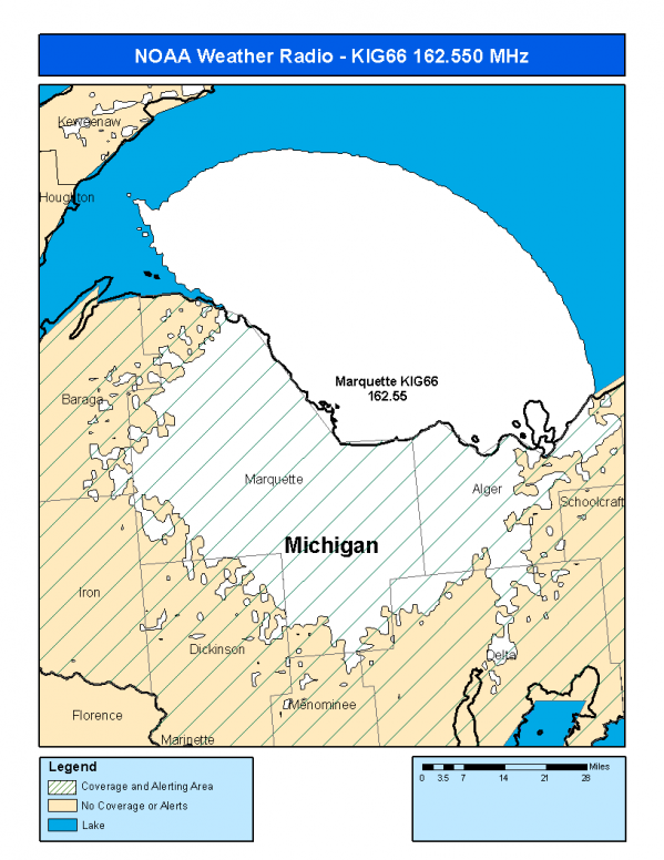 KIG66 (162 550) Marquette, MI - NOAA Weather Radio