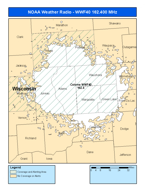 Coloma Wisconsin Map.Wwf40 162 400 Coloma Wi Noaa Weather Radio