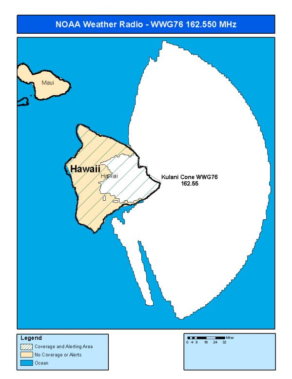 WWG76 (162 550) Kulani Cone, HI - NOAA Weather Radio